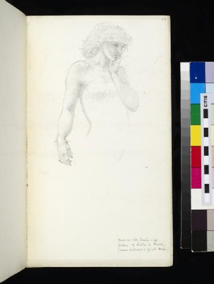 Study for Hill Fairy in 'The Sleep of Arthur in Avalon'