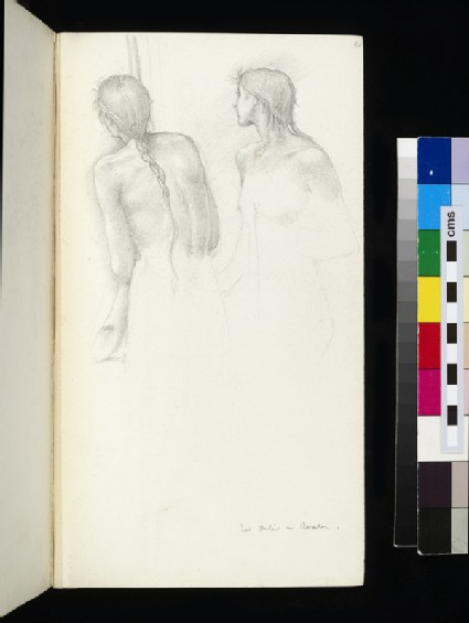 Study for two figures in 'The Sleep of Arthur in Avalon'