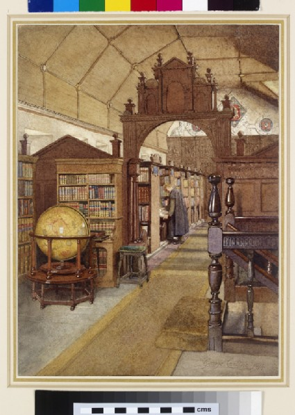 Interior of Merton College Library