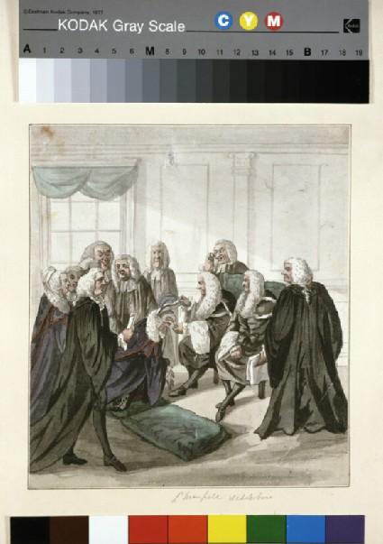A Peep into Westminster Hall on a Call of Serjeants