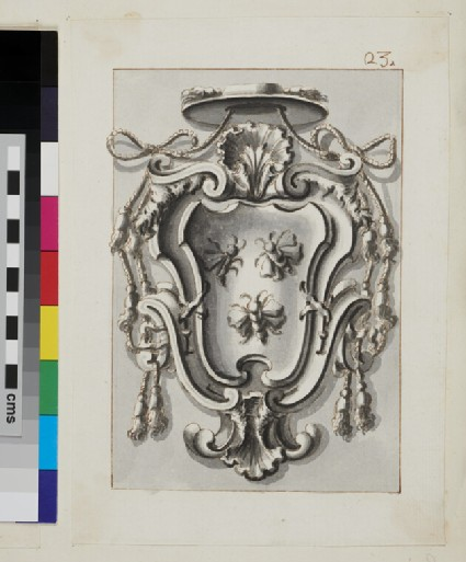 Design of the arms of a Cardinal of the Barberini family, perhaps Francesco Barberini