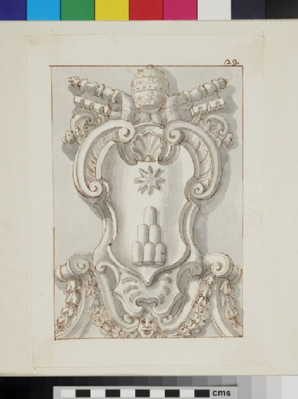 Design of the arms of Pope Clement XI, Giovanni Francesco Albani