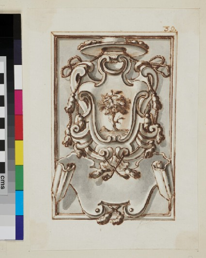 Design of the arms of Girolamo della Rovere