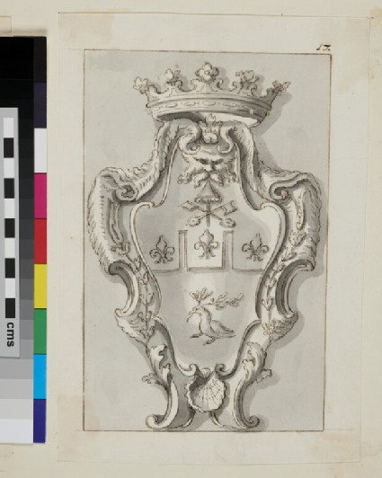 Design of the arms of a Duke of the Pamphilj family