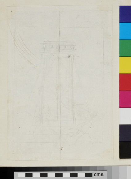 Recto: design of the arms of Pope Innocent X, Giovanni Battista Pamphilj 