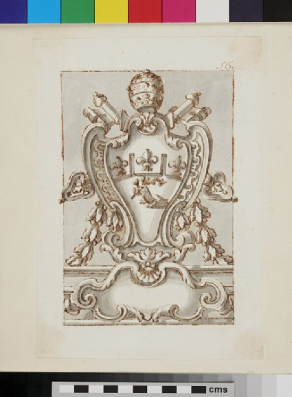 Design of the arms of Pope Innocent X, Giovanni Battista Pamphilj