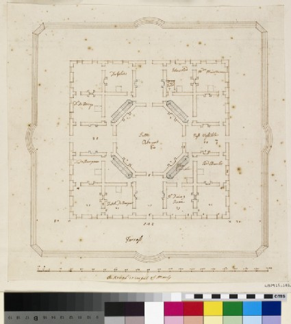 Plan of the Chateau de Marly