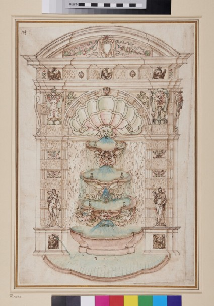 Elevation of fountain possibly for Villa d'Este at Tivoli