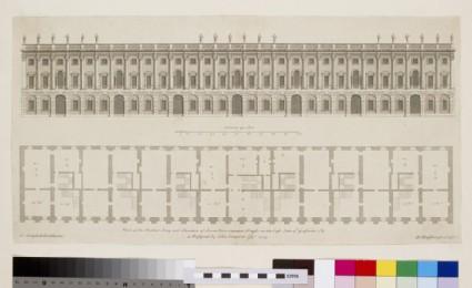 Frontispiece to the series 'Raccolta di Vasi diversi di Stef. de la Bella Fiorentino', Plate 1, design for eight vases