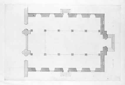 Design of the plan of an assembly hall