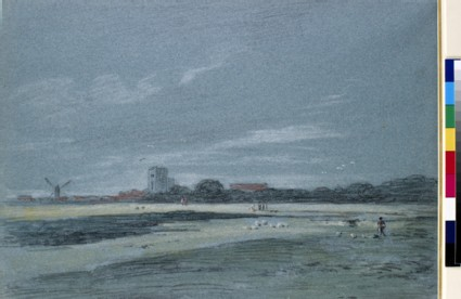 Landscape with a Church Tower and a Windmill