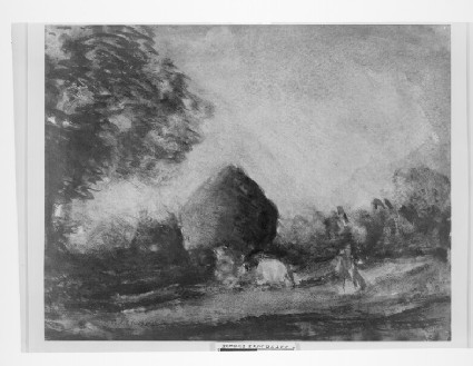 Cattle and Haystack, Twilight