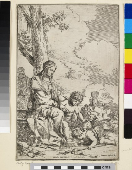 The Holy Family with the Infant St John the Baptist kissing Christ's Feet