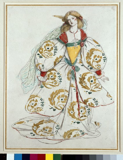Costume design with Persian motifs