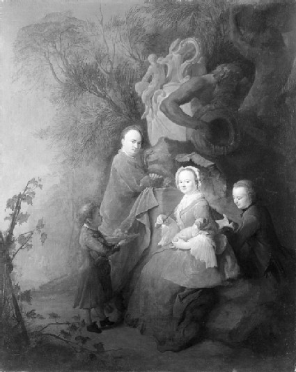 The Artist and his Family in a Park