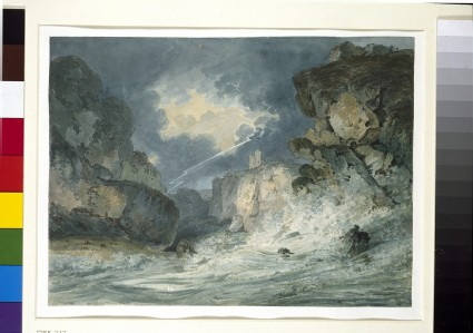 Dunottar Castle in a Thunderstorm