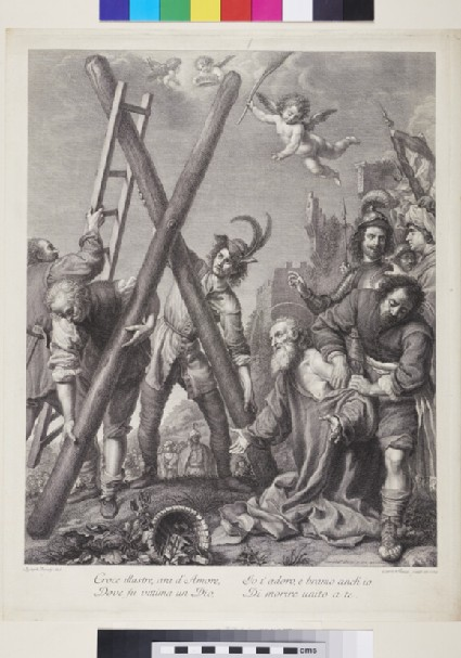 Man supporting a Cross