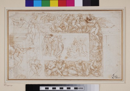 Recto: Designs for a Mural Decoration and other Studies<br />Verso: Designs for a Mural Decoration and other Studies