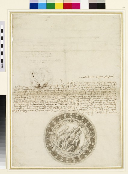 Recto: Designs for a Tondo of the Virgin and Child<br />Verso: Smaller Sketch for a Tondo of the Virgin and Child