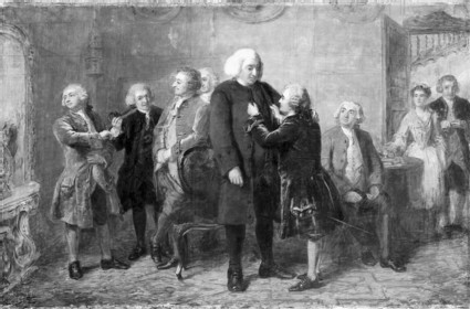 Before Dinner at Boswell's Lodging, 1769