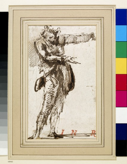 Study of a Man pointing