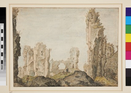 View of the Baths of Caracalla at Rome