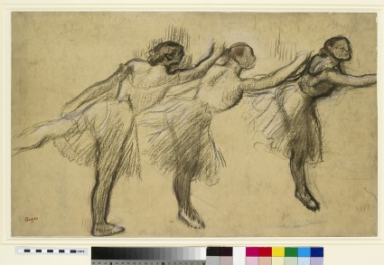 Three Studies of a Ballerina en arabesque