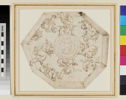 Sketch of the octagonal Ceiling in the Stanza della Signatura