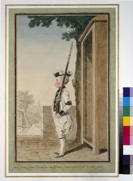 The comte du Lau on sentry duty