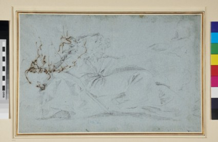 Recto: Two reclining Figures