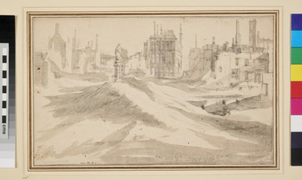 View of a Town, partly in Ruins