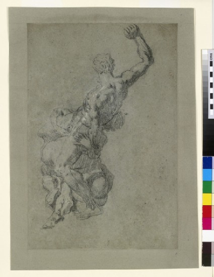Recto: Samson slaying the Philistines, after Michelangelo<br />Verso: Samson slaying the Philistines, after Michelangelo