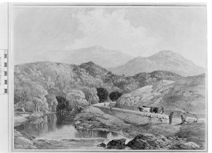 Mountainous river landscape in Wales