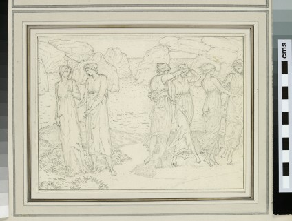 Study of six figures in a landscape