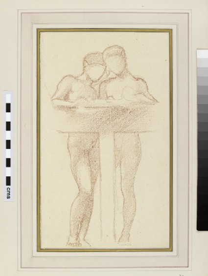 Sketch of two standing figures, possibly a study for 'King Cophetua and the Beggar Maid'