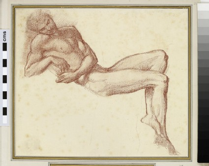 Study of male nude reclining