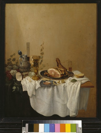 Breakfast-piece with a Ham