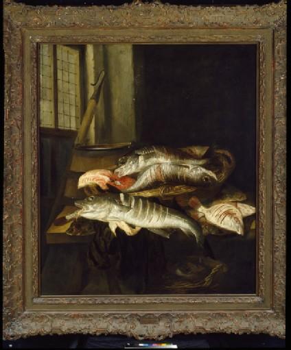 Interior with Still Life of Fish