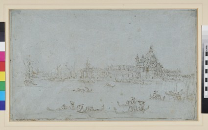 Recto: Venice: The Dogana di Mare and adjacent Buildings 