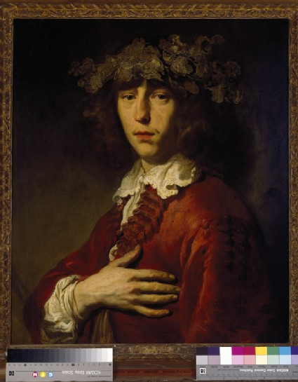 A Young Man wearing a Wreath of Vine Leaves
