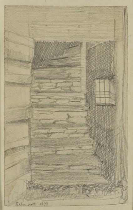 The back stairs at Kelmscott Manor