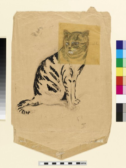 Study of a tabby cat, for 'The Hunter at Bay'
