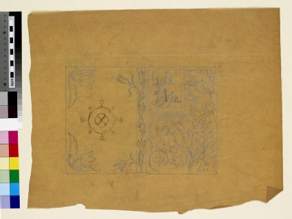 Design for an embroidered book cover: The Light of Asia