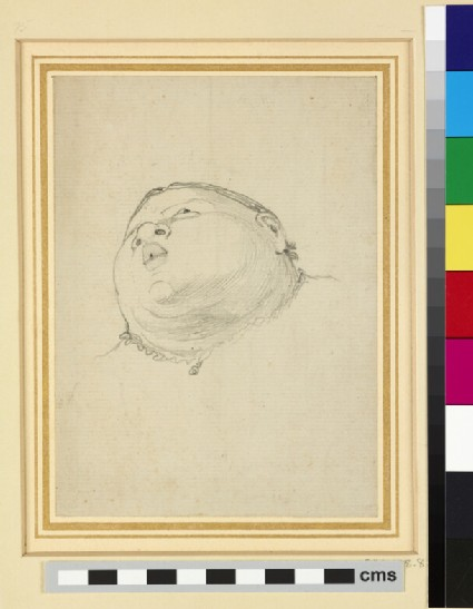 Caricature of a Baby's Head