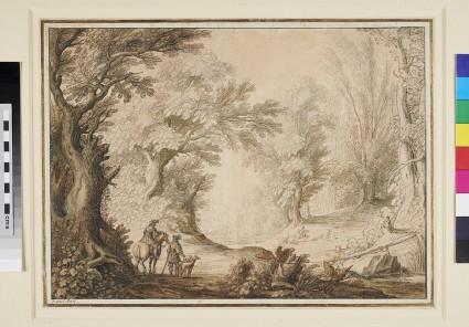 Interior of a Forest with Figures of Huntsmen