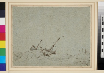 A Ship dismasted in a Storm