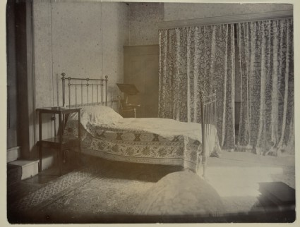 Jane Morris's bedroom at Kelmscott House, Hammersmith