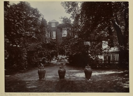 The Rear Garden at Kelmscott House, Upper Mall, Hammersmith