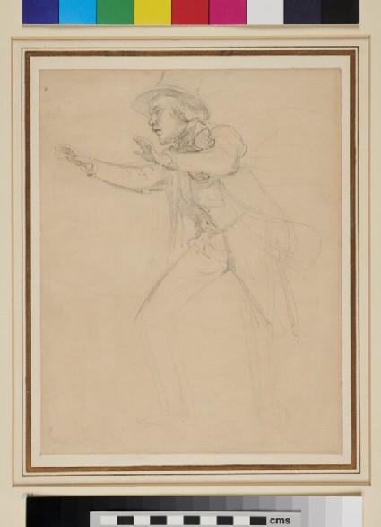 Recto: Sketch-portrait of a Conductor <br />Verso: Virgin Mary