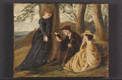 Tennyson reading aloud in a Glade